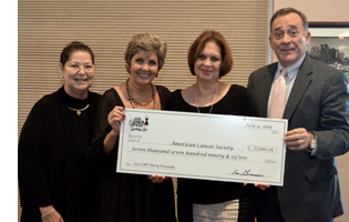 Alan Gieseman presents check to American Cancer Society